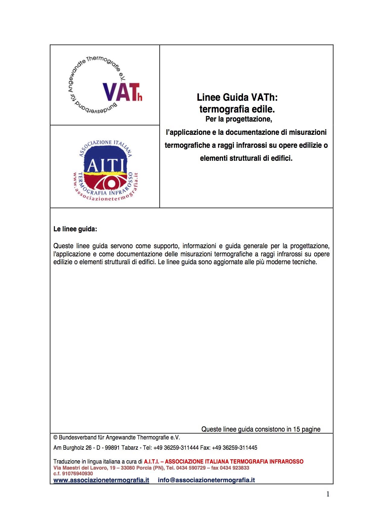 Linee Guida Vath per le ispezioni in edilizia..