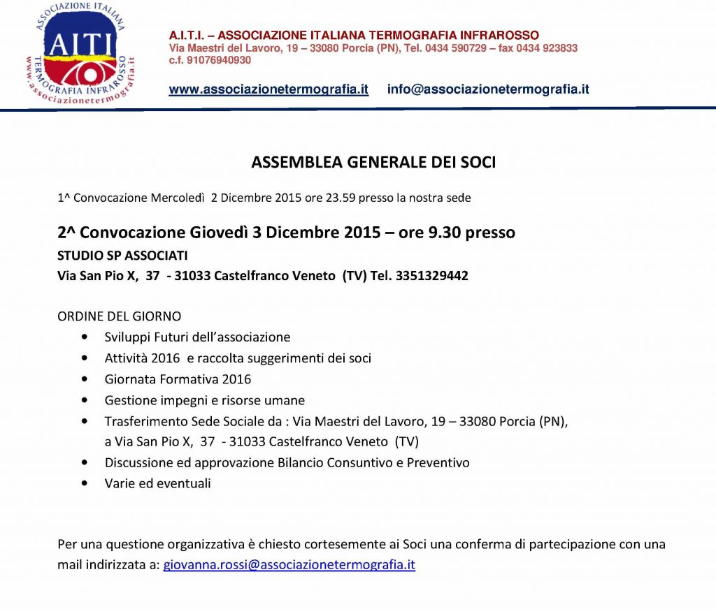 Programma assemblea soci 2015